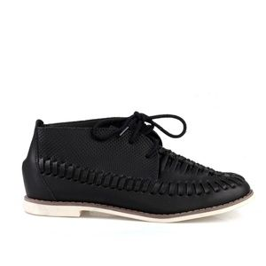 MARSEILLE-03  Perforated Laced Up Canvas Sneaker